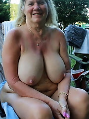 Incredible older lady with massive breasts