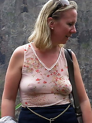 Without bras voyeur (Granny and Milf)