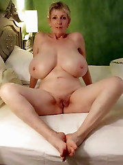 Concupiscent older cougar loves nudism very much
