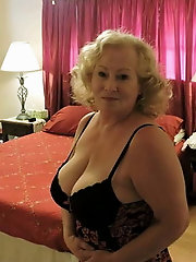 Slim older grandmas get her holes fucked