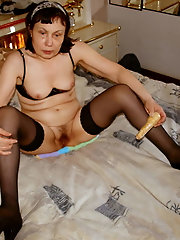 Marika, Swedish Granny fucks all cummers