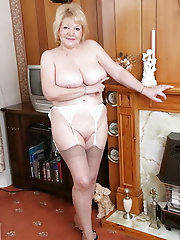 Granny with lickable Feet