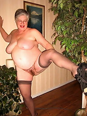 58yo blonde granny and her wet pussy